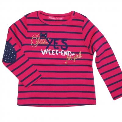Raspberry navy tee-shirt