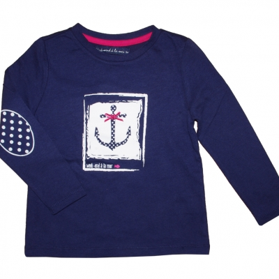 Long sleeves navy t-shirt