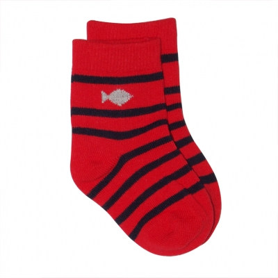 Chaussettes rouge marine