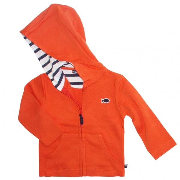 Orange hooded sweater