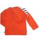 Gilet orange à capuche