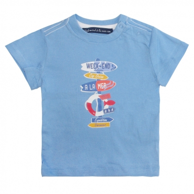 Tee-shirt bleu ciel