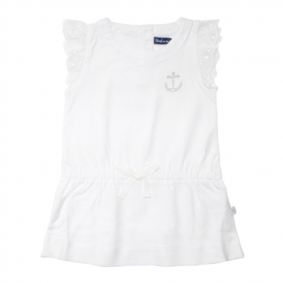 Robe blanche à petites manches