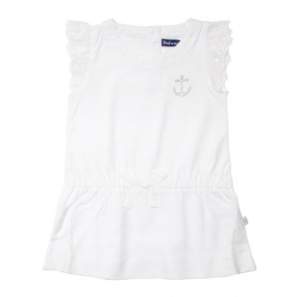 Little sleeves white dress