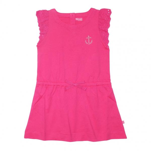 Little sleeves fushia dress