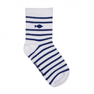 Chaussettes blanches et marines