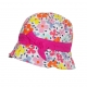 Flower-printed hat