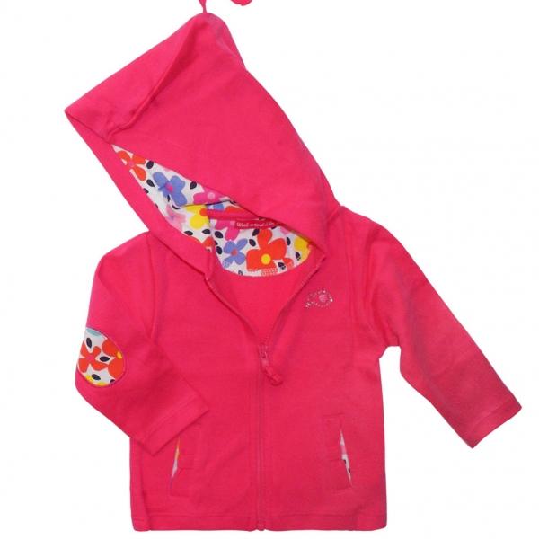 Hooded fushia jacket