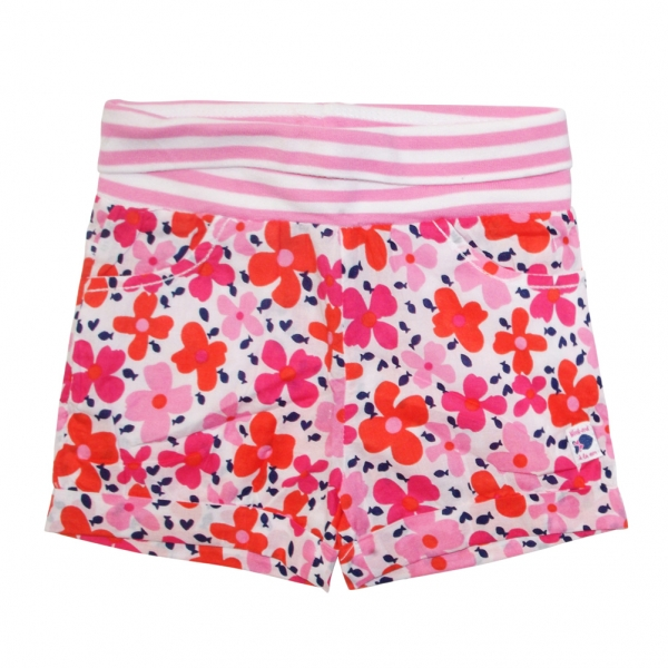 All over flower shorts