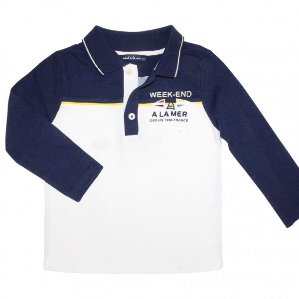 Navy and white polo-shirt