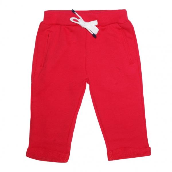 Felt red pants
