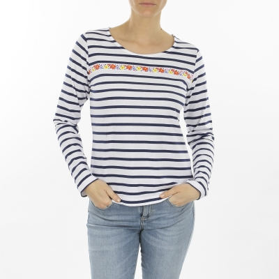 White navy sailor shirt