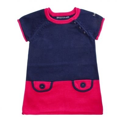 Two-coloured stitch dress