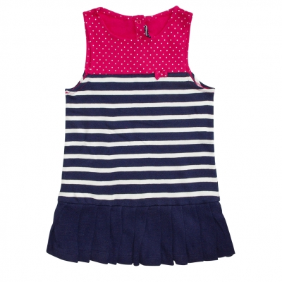 Navy ecru dress