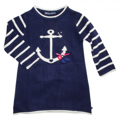 Robe marine en maille