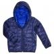 Reversible hooded down jacket