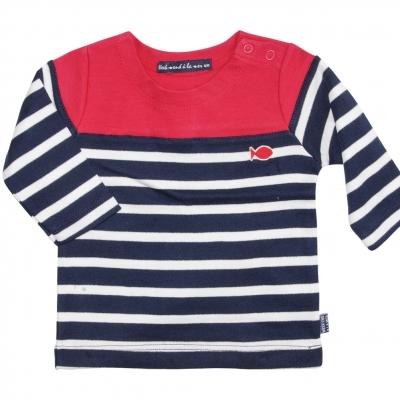 Navy ecru sailor shirt