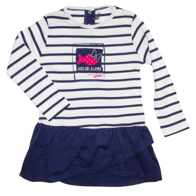 Ecru navy dress