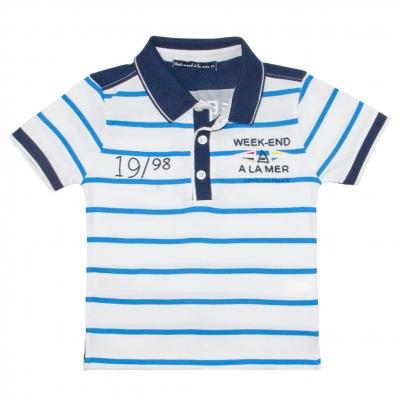 Blue white polo-shirt