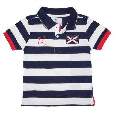 White navy polo-shirt