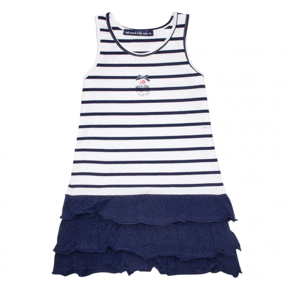 White navy dress