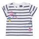 Tee-shirt blanc marine