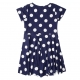 Dotted navy dress