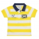 White yellow polo-shirt