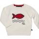 Stitch ecru sweater