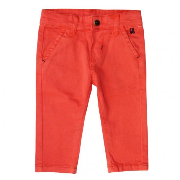 Pantalon orange en toile