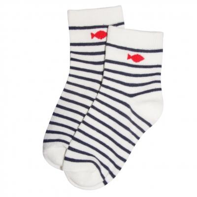 Socks ecru navy