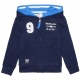 Hooded navy sweater