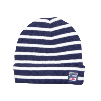 Hat Navy Ecru