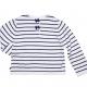 Pull Fin Blanc Marine