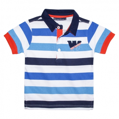 Multico striped polo-shirt