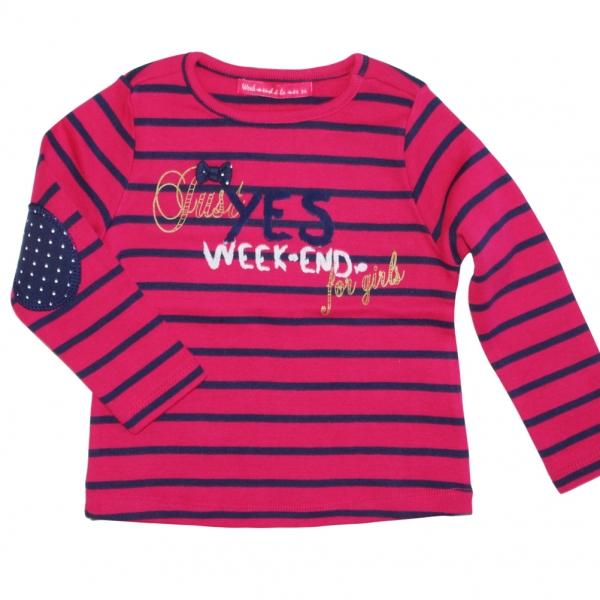 Tee-shirt framboise marine