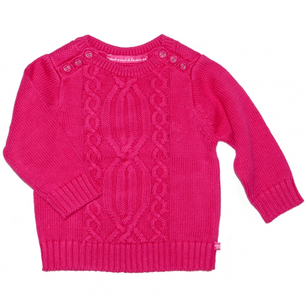 Stitch raspberry sweater