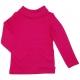 Raspberry polo neck jumper