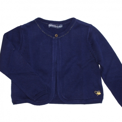 Long sleeves navy sweater