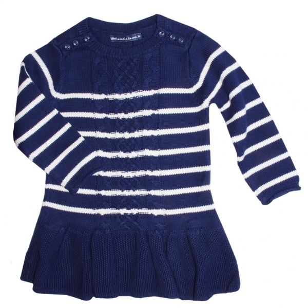 Stitch navy ecru dress