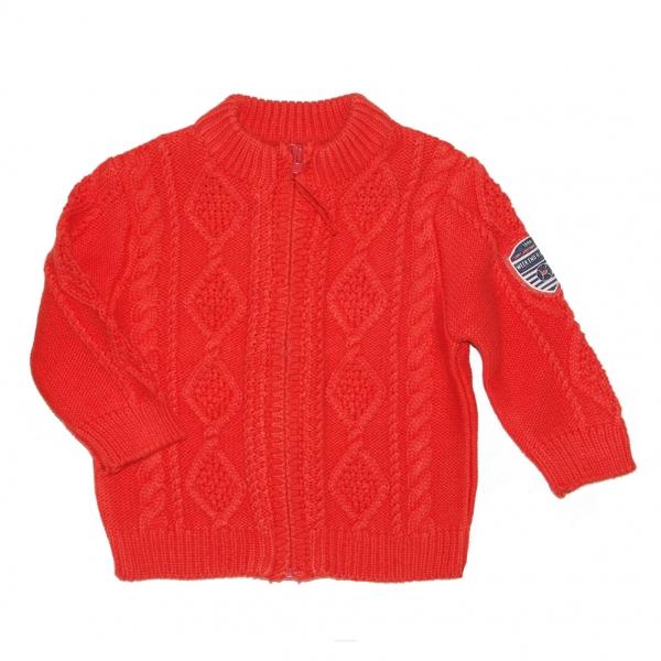 Orange stitch cardigan