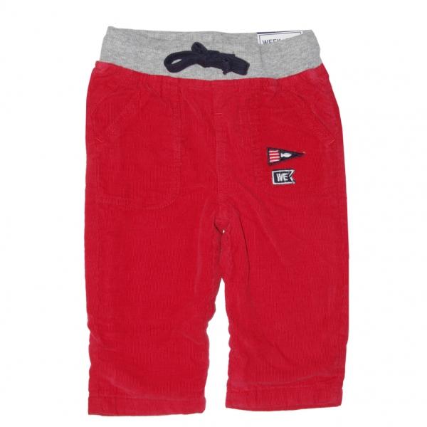 Pantalon velours rouge