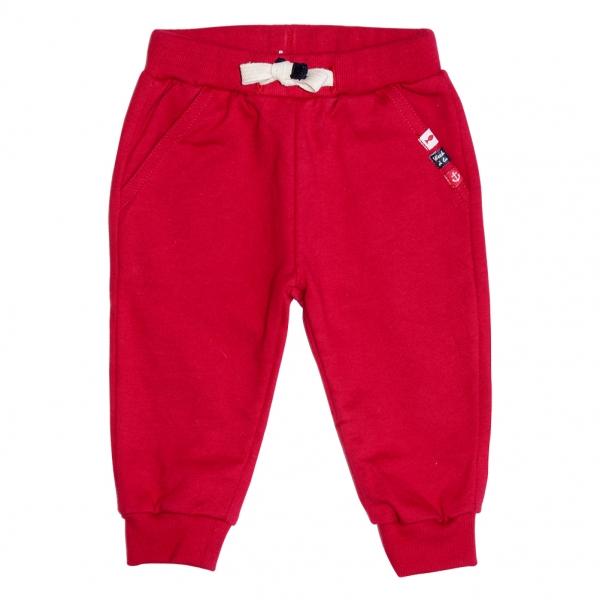 Red jogging pants