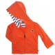 Gilet orange à capuche