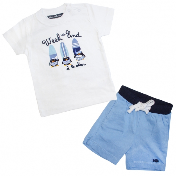 Blue and white set
