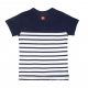 White navy t-shirt