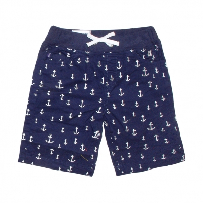Bermudas with anchor prints