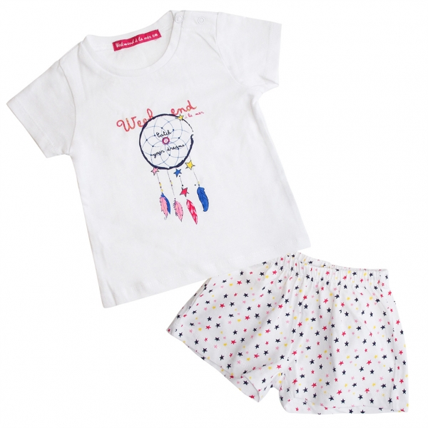 White pajamas set