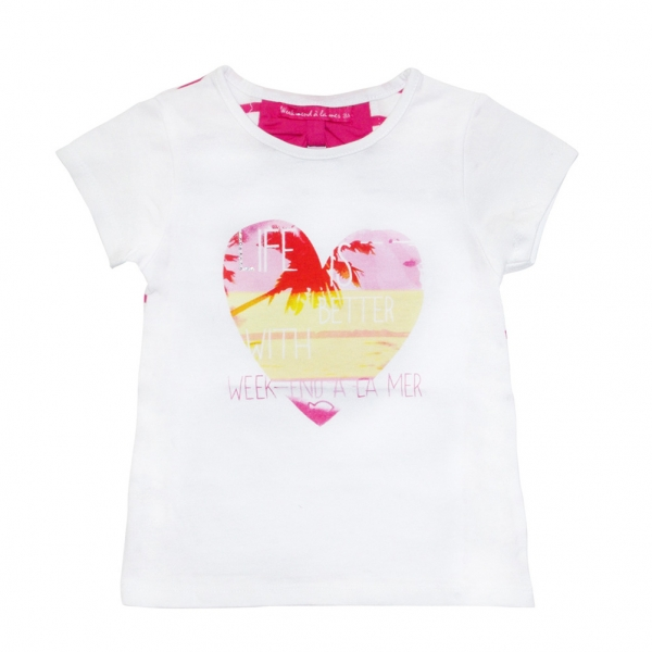 White fushia t-shirt