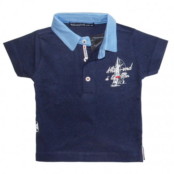 Navy polo-shirt